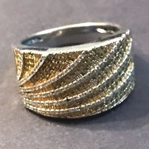 5/8 CTW 10K Yellow & White Diamond Ring Paid $699